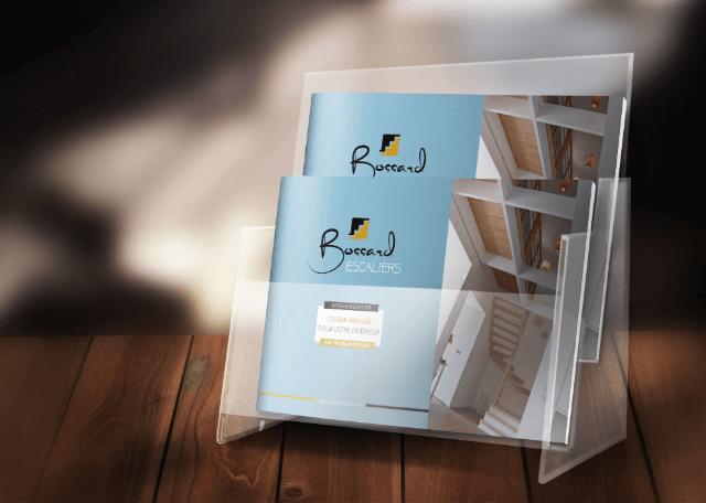 Catalogue pour l'entreprise Bossard dans son présentoir
