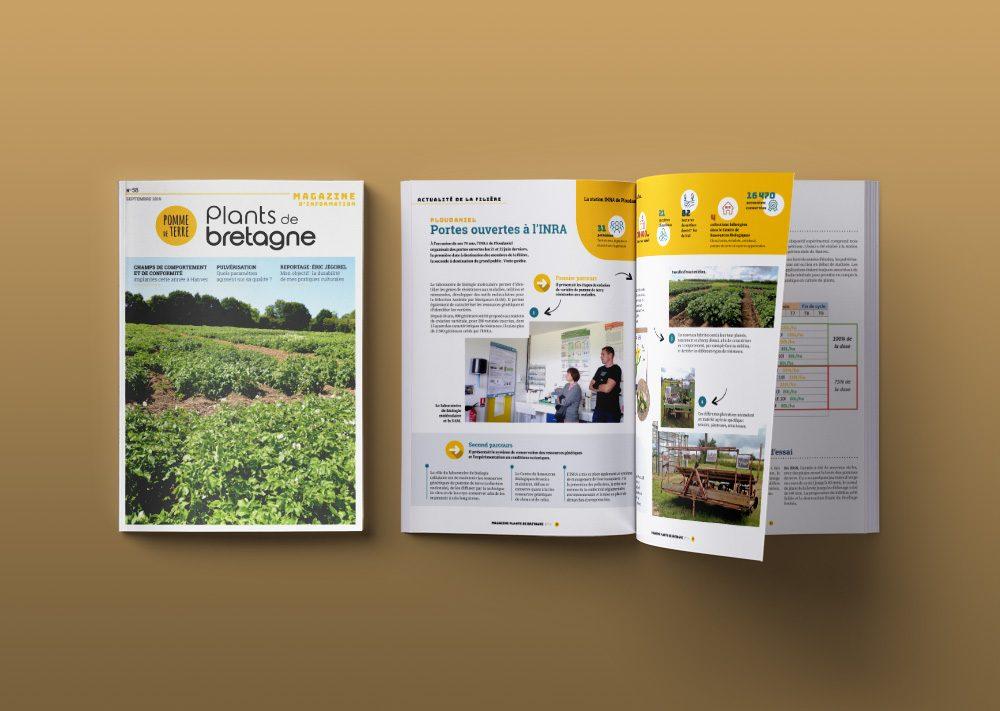 magazine interne Bretagne Plants numéro 58