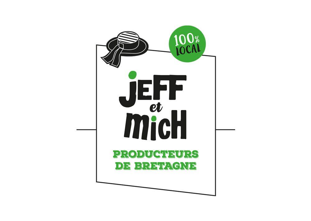 logo Jeff et Mich Producteurs de Bretagne 100% Local